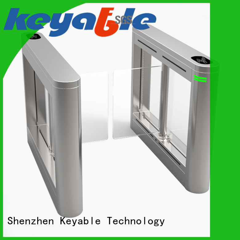 Keyable glass turnstile more buying choices for pedestrians