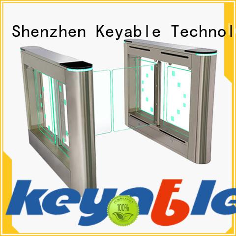 Keyable most popular glass turnstile exporter for security check