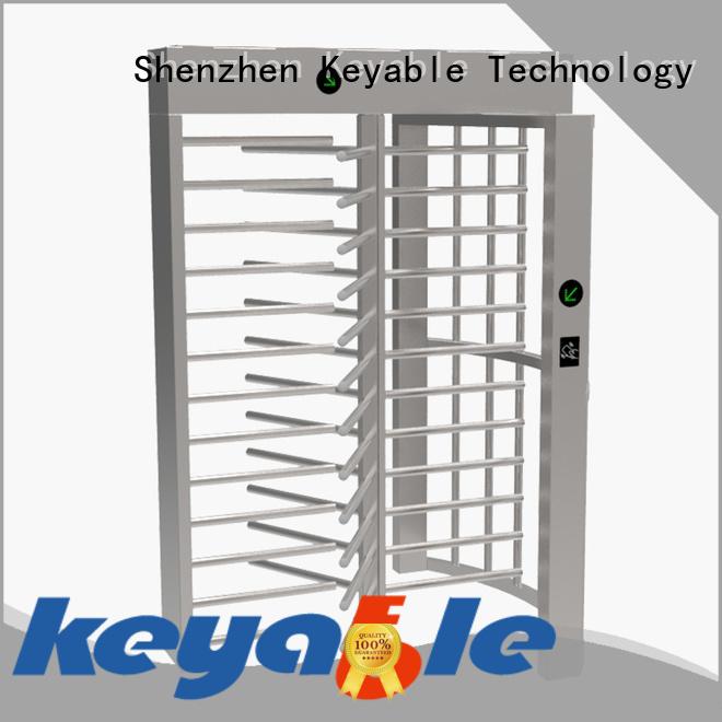 Keyable full height turnstile gate manufacturer for distribution