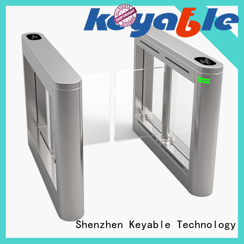 Keyable hot recommended glass turnstile exporter for security check