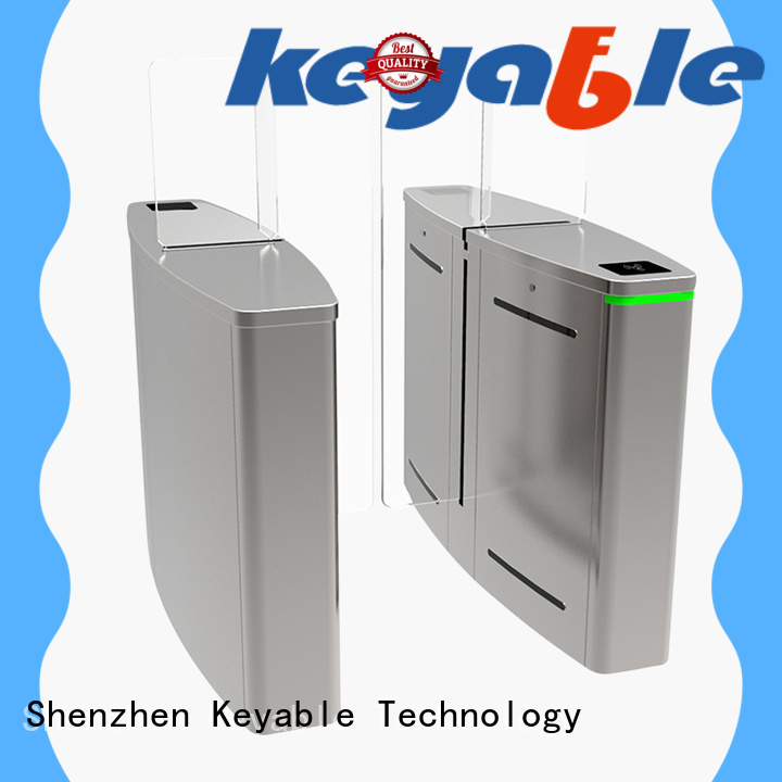 Keyable automatic turnstile trade partner for security check