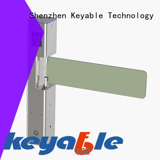 Keyable glass turnstile manufacturer for pedestrians