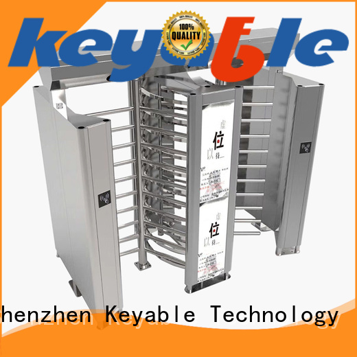 Keyable full height turnstile gate for distribution