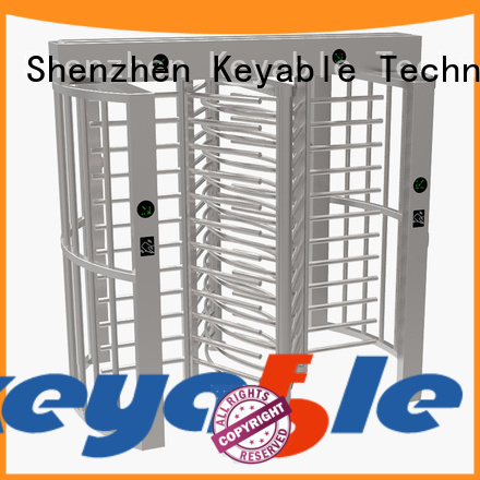 Keyable full height turnstile for distribution