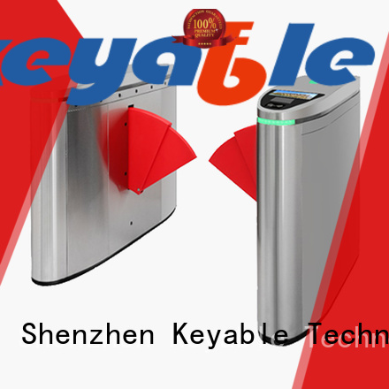 Keyable flap barrier exporter for security check