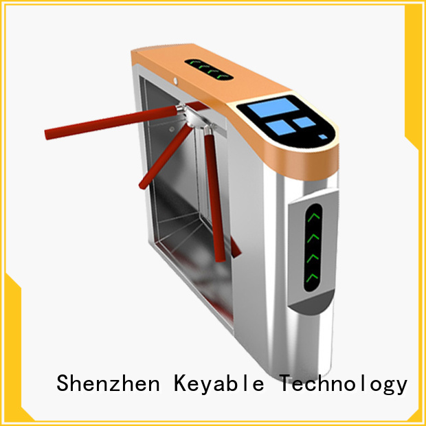 Keyable access control turnstile factory for sale