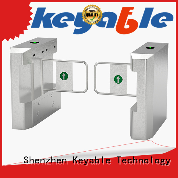 Keyable glass turnstile manufacturer for security check