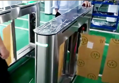 Acrylic lid swing barrier gate optical turnstile OEM_KB1418