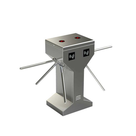Double lane 304 stanless steel tripod turnstile