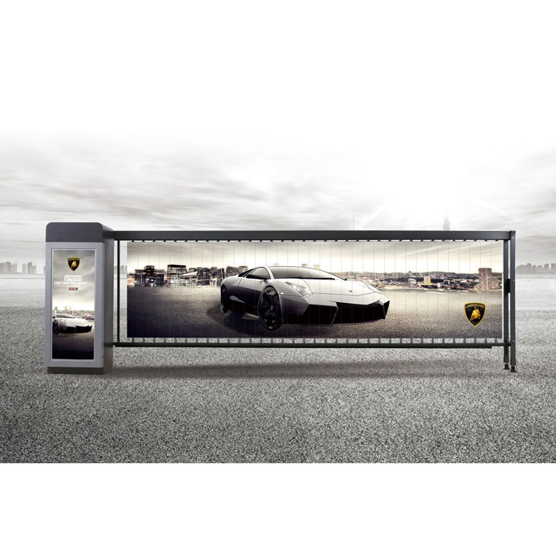 Advertising auto barrier