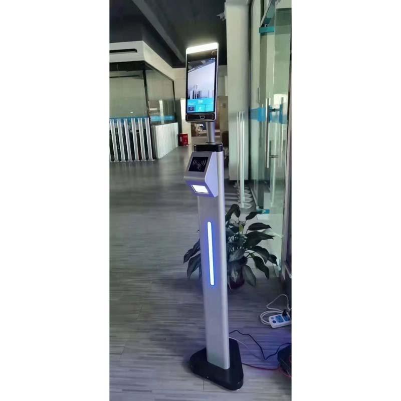 Metal floor stands with alcohol Hand Gel Dispenser.