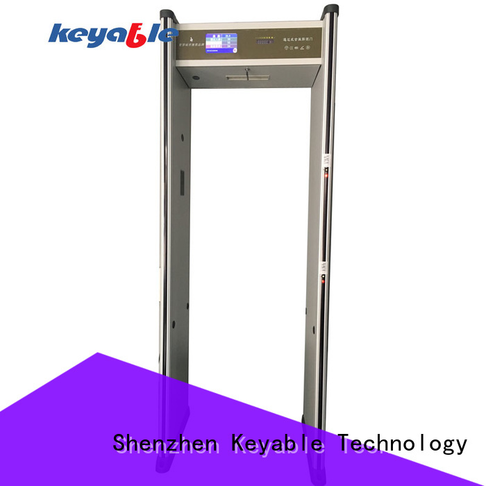 Keyable trusted by millions walk through metal detector trade partner for bus station