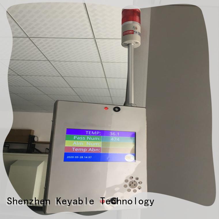Keyable non contact infrared thermometer exporter for hotel room